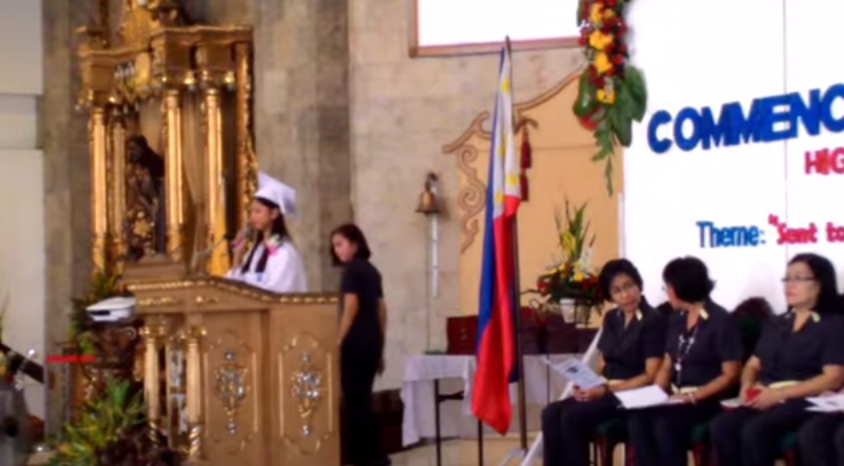 Krisel Mallari interrupted graduation speech