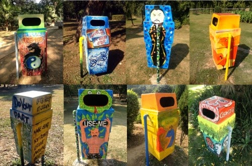 Artistic Dust Bins