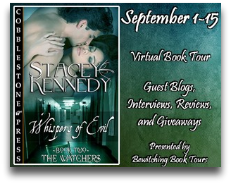 Whispers of Evil Virtual Book Tour: Guest Post with Stacey Kennedy & Giveaway
