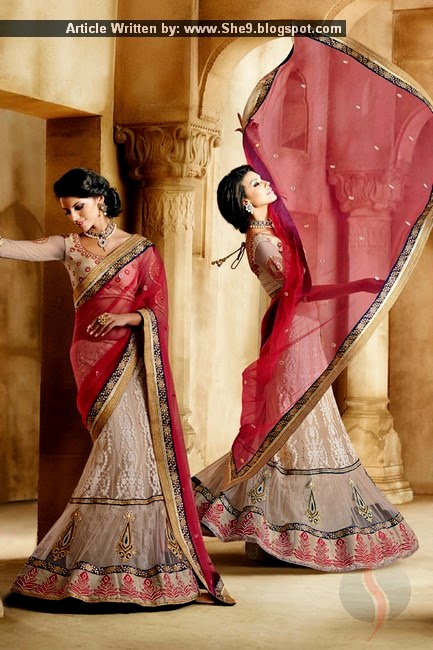 Fish Style Dresses of Saree and Lehnga