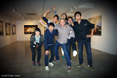 Happy team (INMD agency) with artist Ben Heine at Hyehwa Art Center, The Universe of Ben Heine Exhibition, Seoul, South Korea - 2013