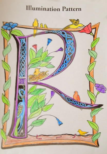 medieval illuminated letters coloring pages - illuminated manuscript coloring pages of books coloring
