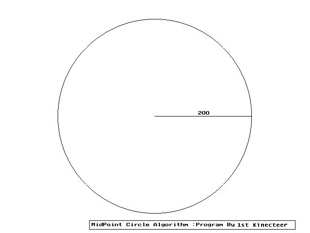 Midpoint Line Drawing Algorithm In Java : Bitstogather c implementation of midpoint circle drawing