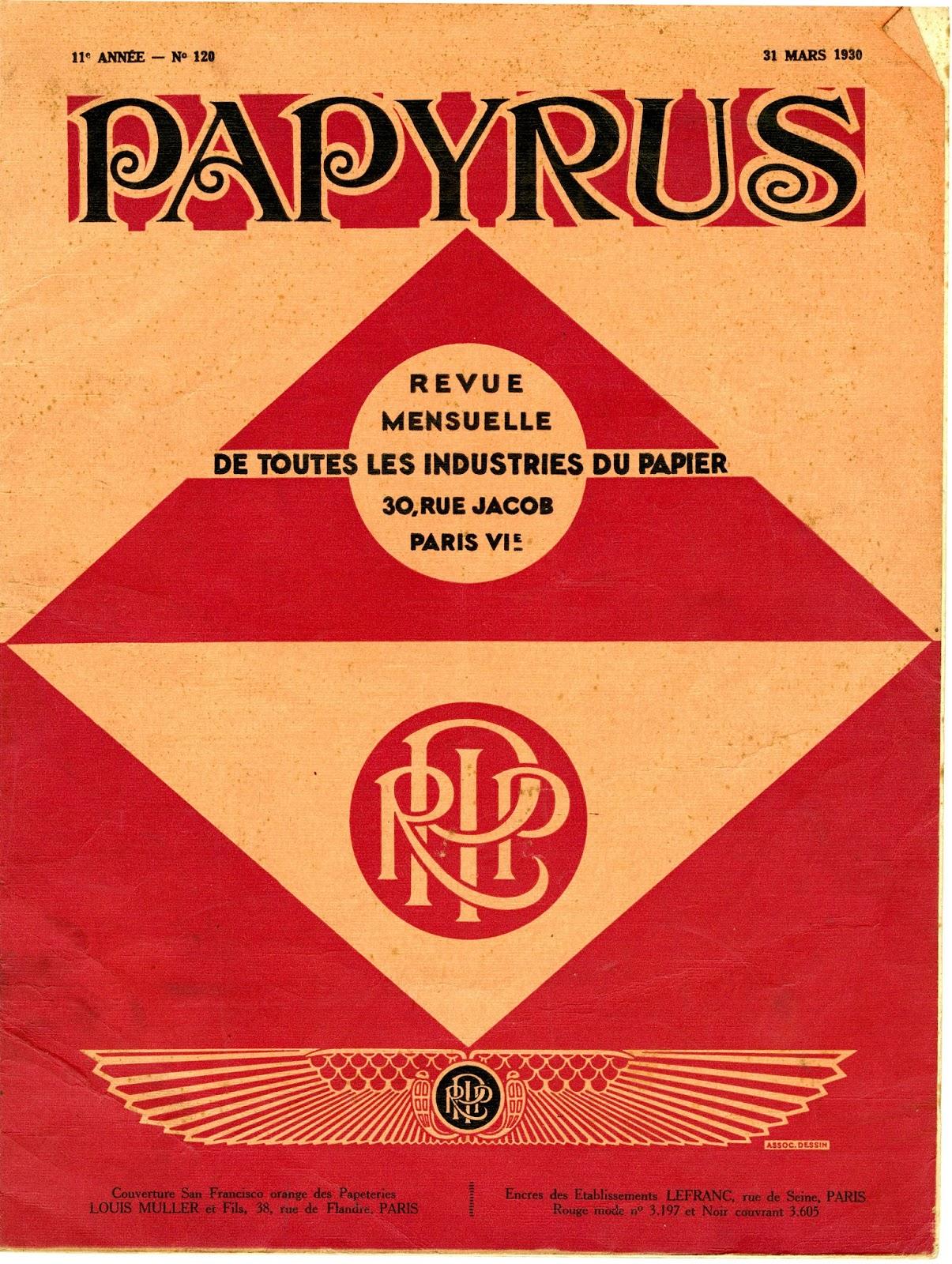 california historical society type tuesday papyrus revue de toutes les industries du papier. Black Bedroom Furniture Sets. Home Design Ideas