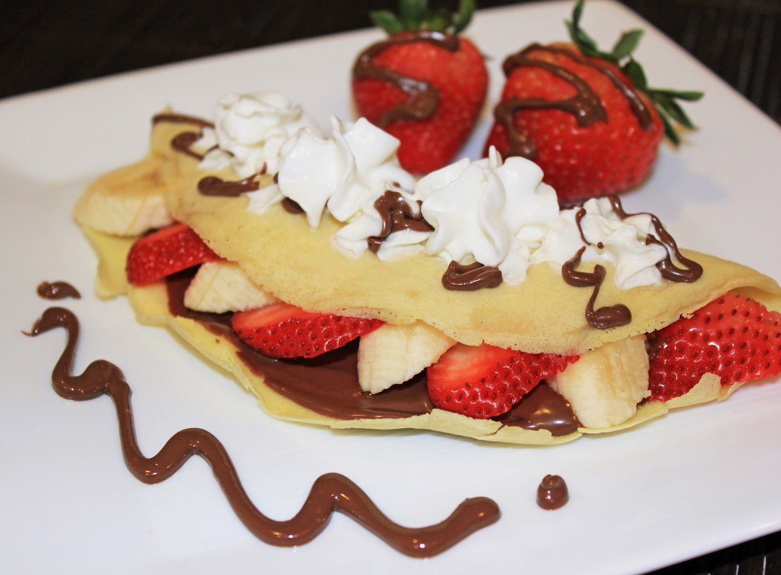 Strawberry, Banana & Nutella crepe | Life At Home