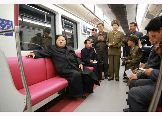 kim jong un rode a new model subway car on the pyongyang metro errymath. Black Bedroom Furniture Sets. Home Design Ideas