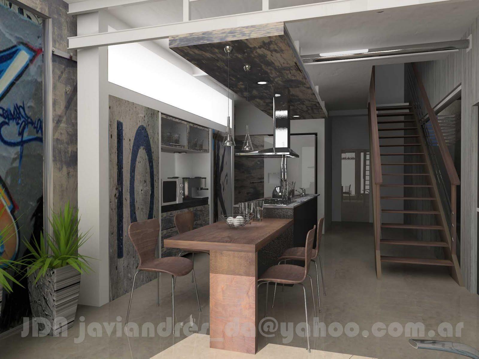 Arquitec maquetas dise o de interiores 3d r stico y urbano for Diseno de interiores rusticos