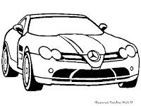 Mewarnai Gambar Mobil Mercedes-Benz
