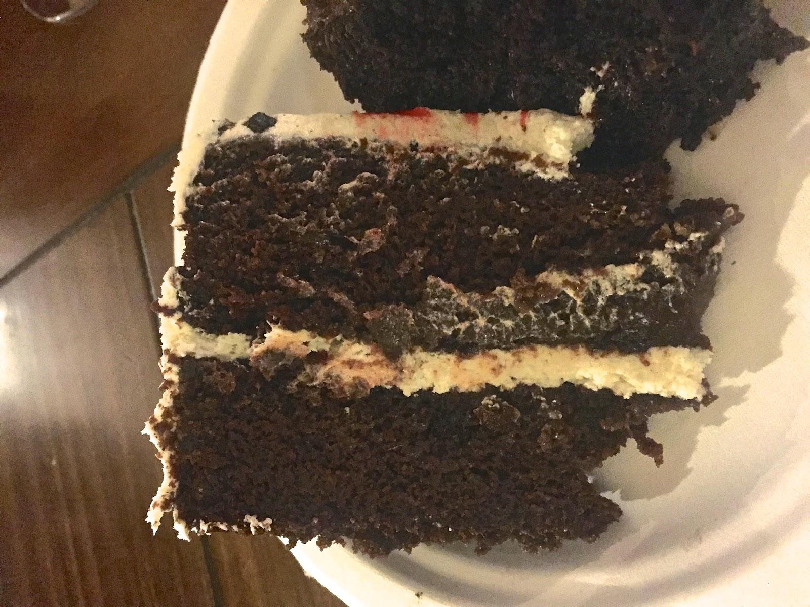 Slice of Gluten-Free Vegan Chocolate Cake Veega Blog Chloe