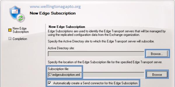New-EdgeSubscription - Criando um Edge Subscription no Exchange Server 2010 [ Criando uma Inscrição de Borda ]