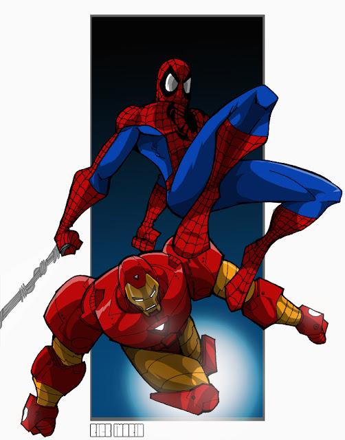 Imagen de Spiderman e Iron Man juntos