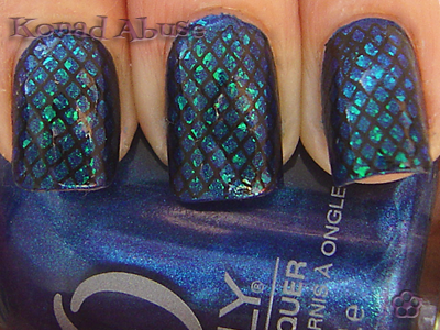Orly Witches Blue, Nfu.Oh 052 and Konad m57