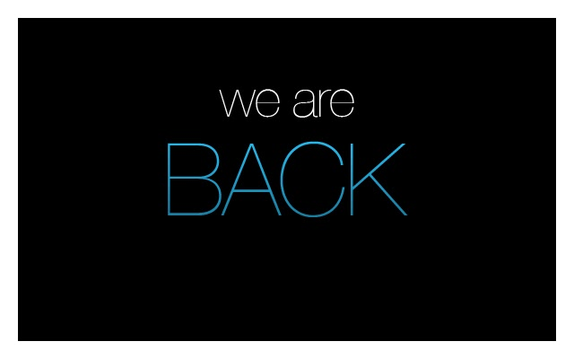 We_Are_Back