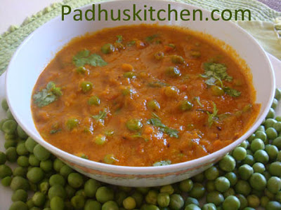 matar masala-peas masala-green peas gravy