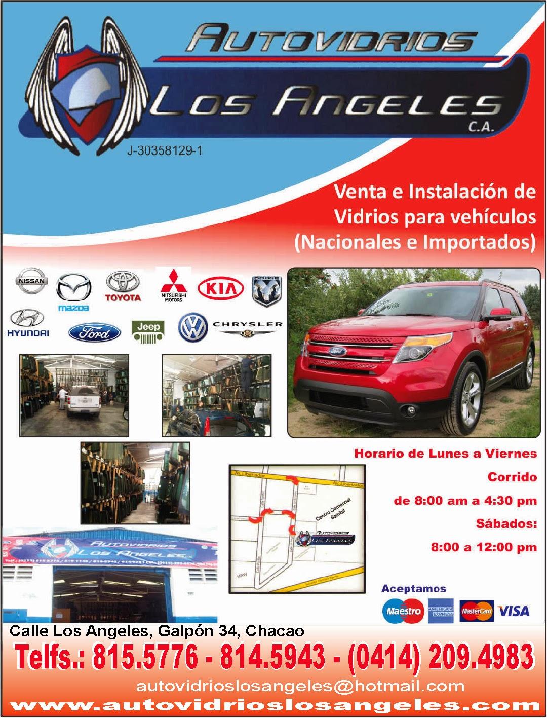 AUTOVIDRIOS LOS ANGELES, C.A. en Paginas Amarillas tu guia Comercial