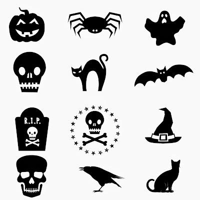 Marca copas Halloween / Halloween cup-markers / marqueurs de verre Halloween