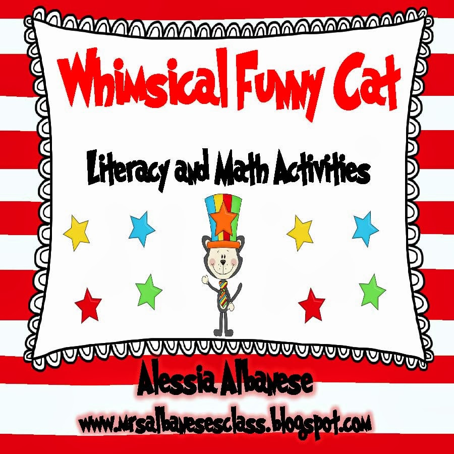 http://www.teacherspayteachers.com/Product/Whimsical-Funny-Cat-Literacy-and-Math-Activities-570748