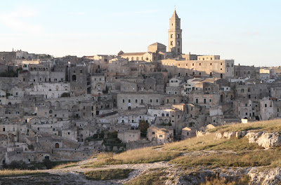 Sassi di Matera Near Sunset