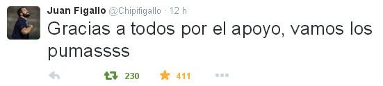 Figallo se sumó a la concentración de Los Pumas