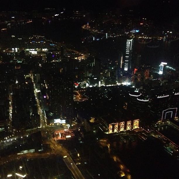 View from The Ozone Bar, Ritz Carlton Hongkong