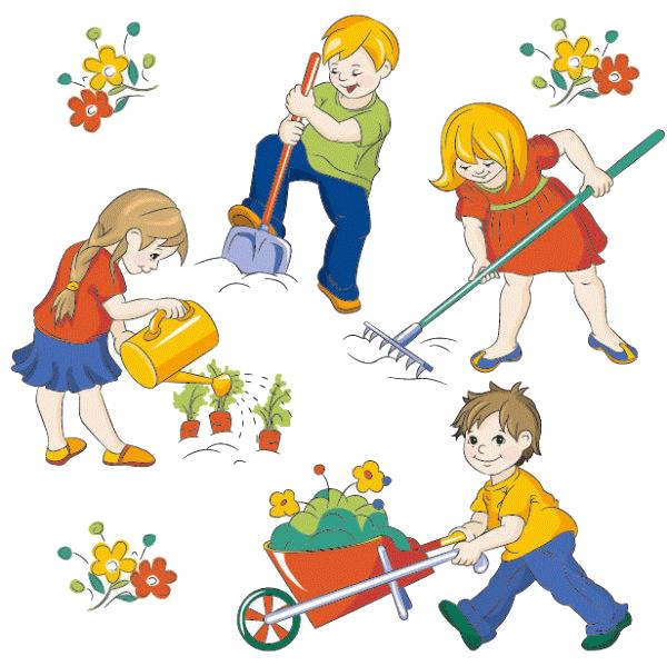 Niños trabajando para imprimir