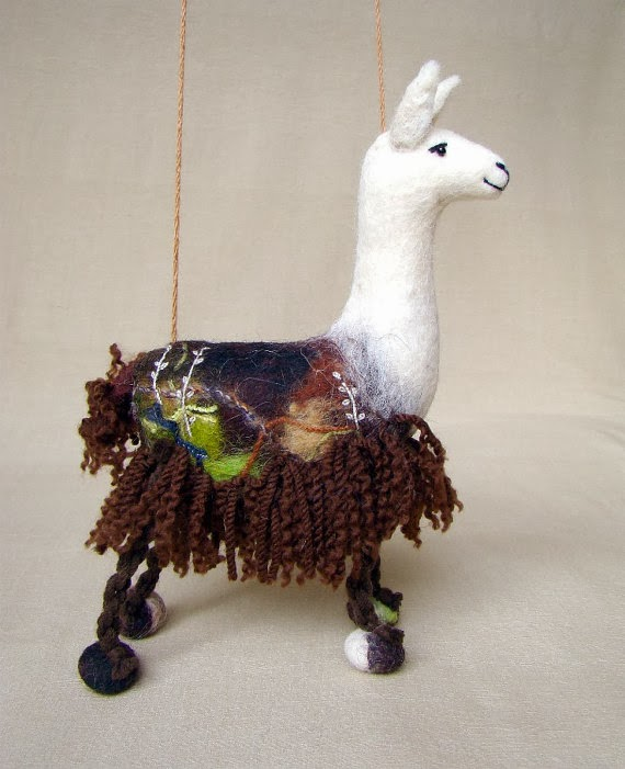 http://www.etsy.com/listing/168690683/laura-felt-llama-art-marionette-puppet?