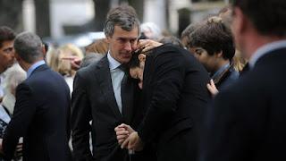 Cahuzac, Bruel et DSK à l' enterrement du juriste Guy Carcassonne