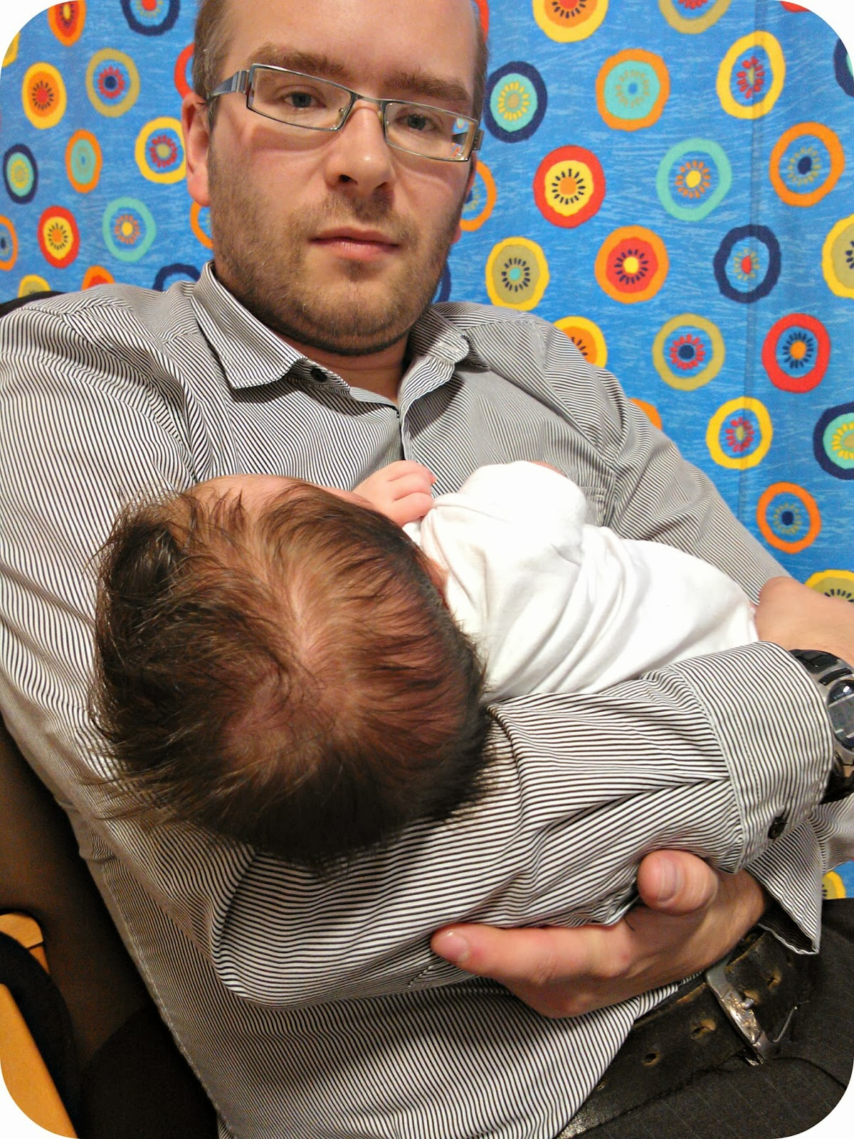 LM and her Daddy waiting at the hospital floppy larynx laryngomalacia