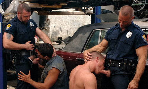 Male naked hot cops