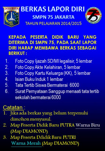 PESERTA DIDIK BARU SMPN 75 TP. 2014/2015