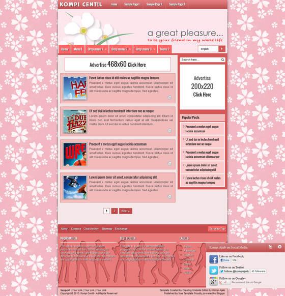 Kompi Centil - Template Blog Yang Centil