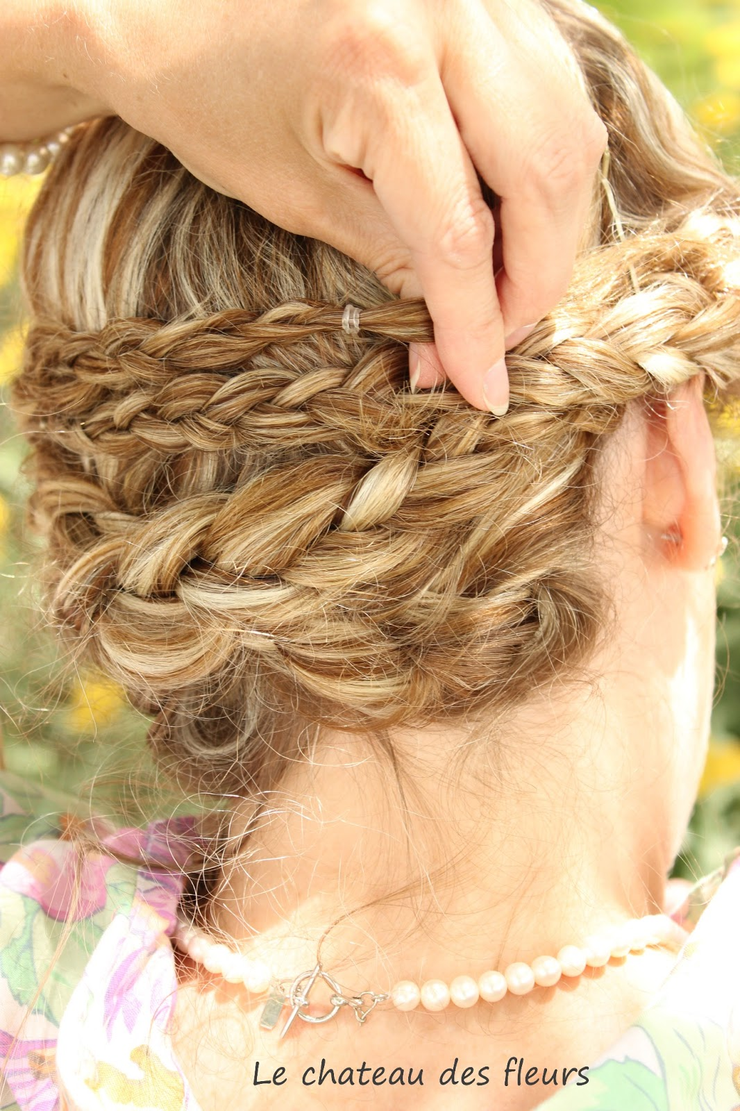 """Isabelle Thornton"" Le Chateau des Fleurs: Braids updo hairstyles: Easy hairdos tutorial"