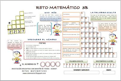Retos Matematicos, Problemas matemáticos, Desafíos Matematicos, Problemas o Acertijos de Ingenio Matematico