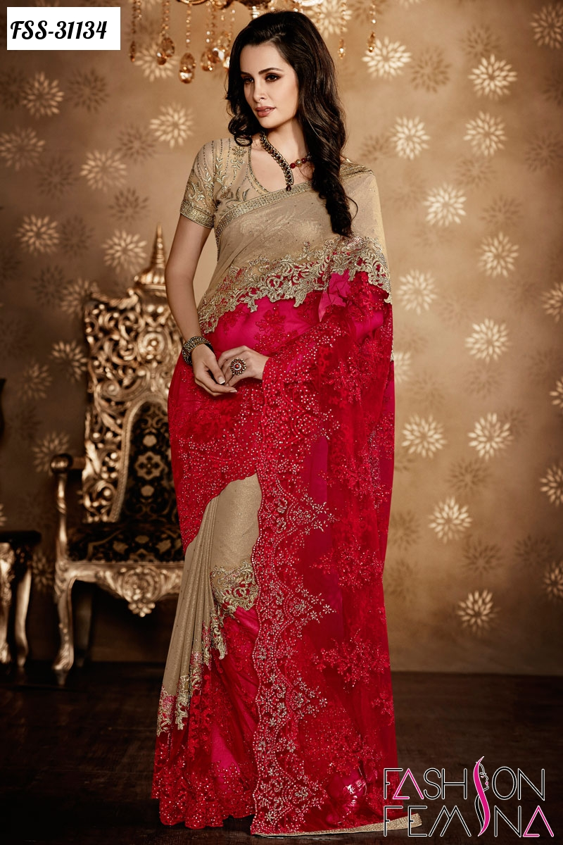 fashion femina latest indian wedding designer sarees 2016
