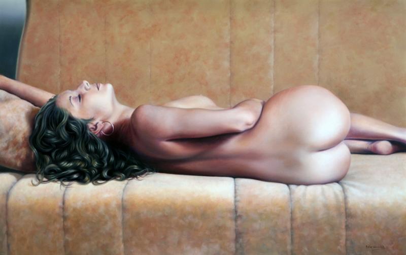 D.W.C. Woman  Figure - Painter Peter Worswick