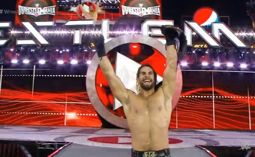 Rollins WM31 MITB Victory Reigns Brock Money In The Bank WrestleMania