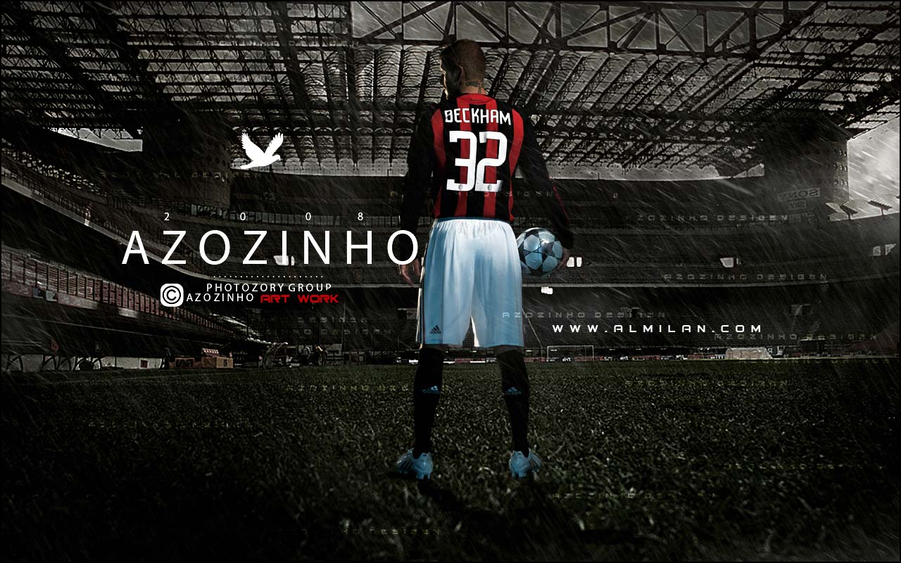 David Beckham Wallpaper AC Milan