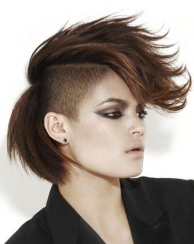 Brunette Undercut Hair Style 2014