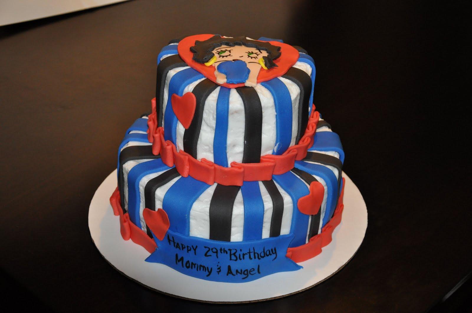 Three Sweet Cakes: Betty Boop Birthday Cake