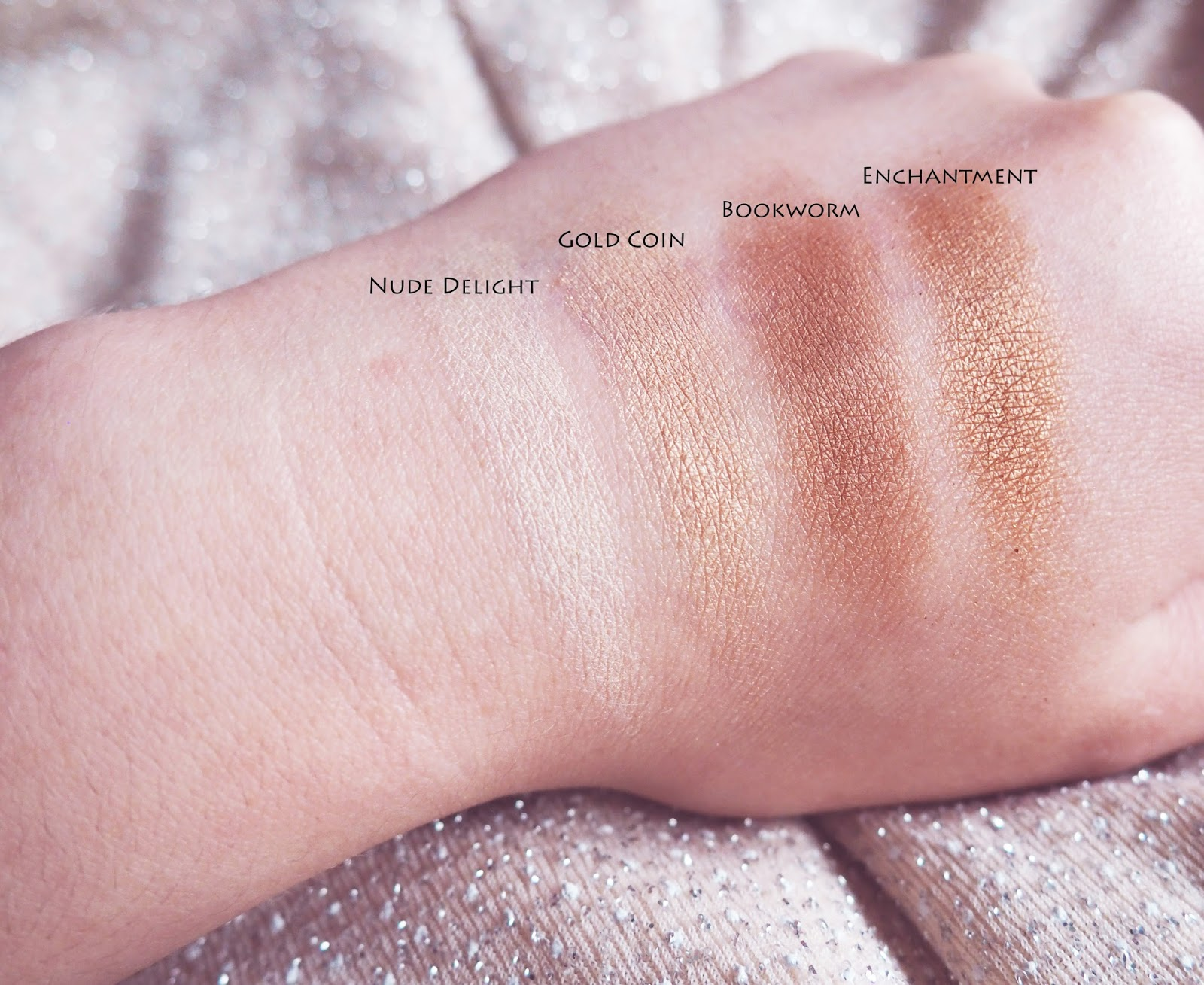 Tanya Burr Cosmetics Hollywood Eye Palette Swatches