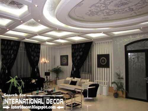 modern pop false ceiling designs ideas 2015 led lighting for luxury living room interior