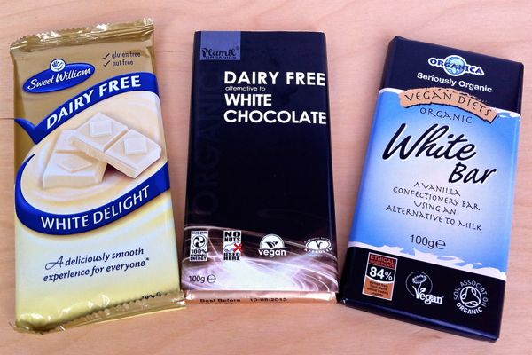 Vegan dairy-free white chocolate bars
