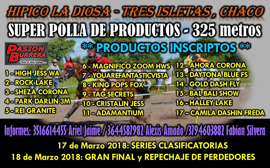 TRES ISLETAS - 18 MARZO - INSCRIPTOS
