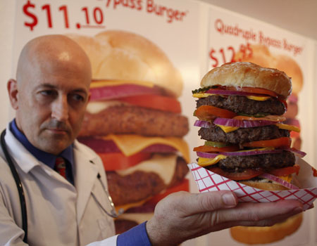 heart attack burger guy dies. Heart Attack coming to Dallas.