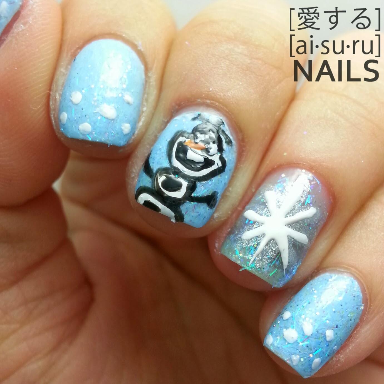 Frozen themed nail art | Aisuru Nails