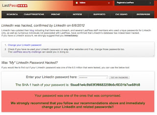 linkedin password rubate