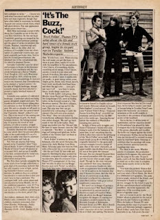 Explanation of band name Buzzcocks - Time Out - Rock Follies clipping