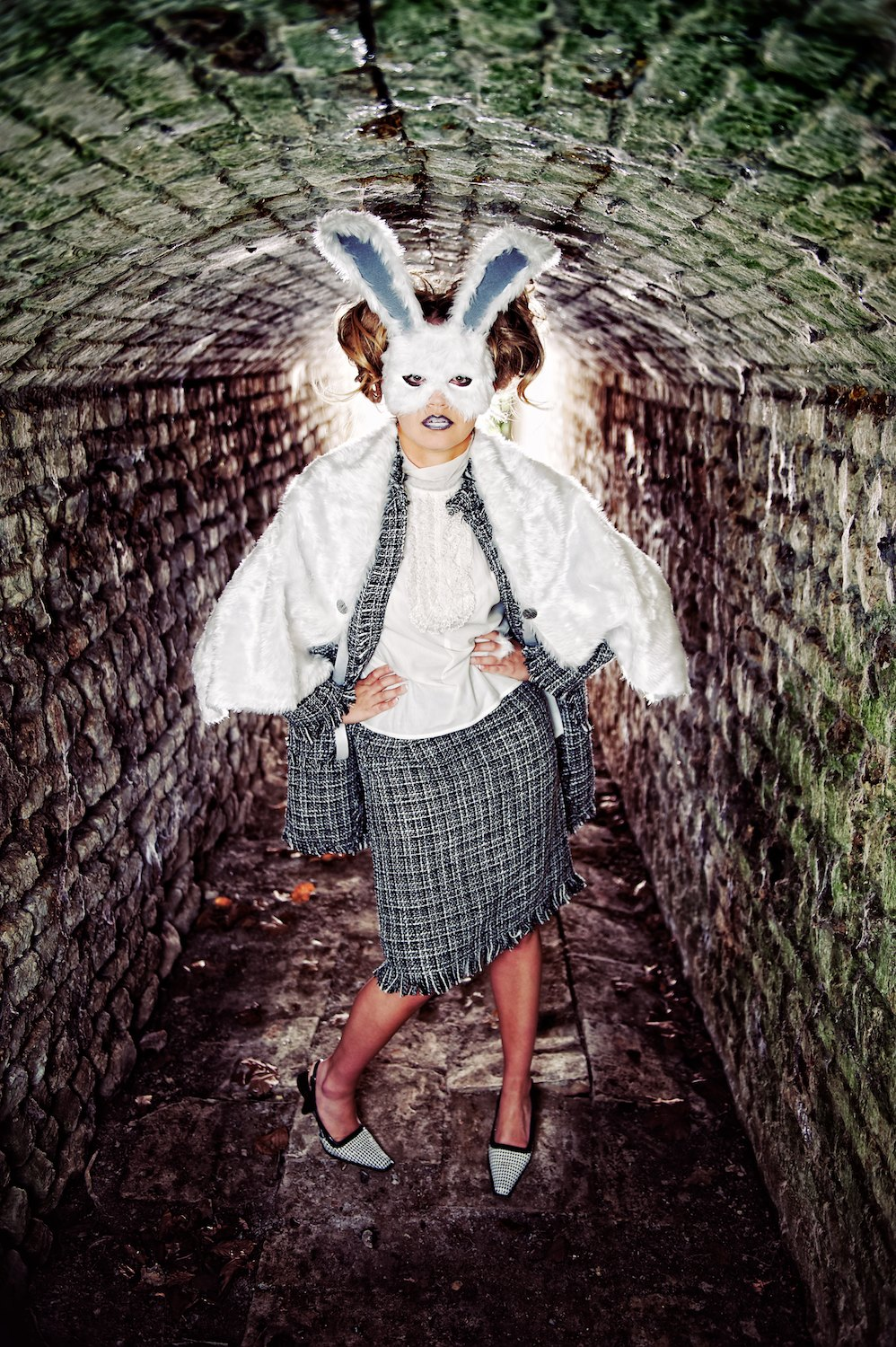 mystic magic, Pixbeat Photo, mask, rabbit mask, masquerade, animal, animal masks, fashion, vintage, vintage fashion, photo, photography, fur, feathers, couture, designer, inspiration, imagination, avant garde, creative, fashion photography, Animal Heritage, fashion designer, mask designer, rabbit, power dressing