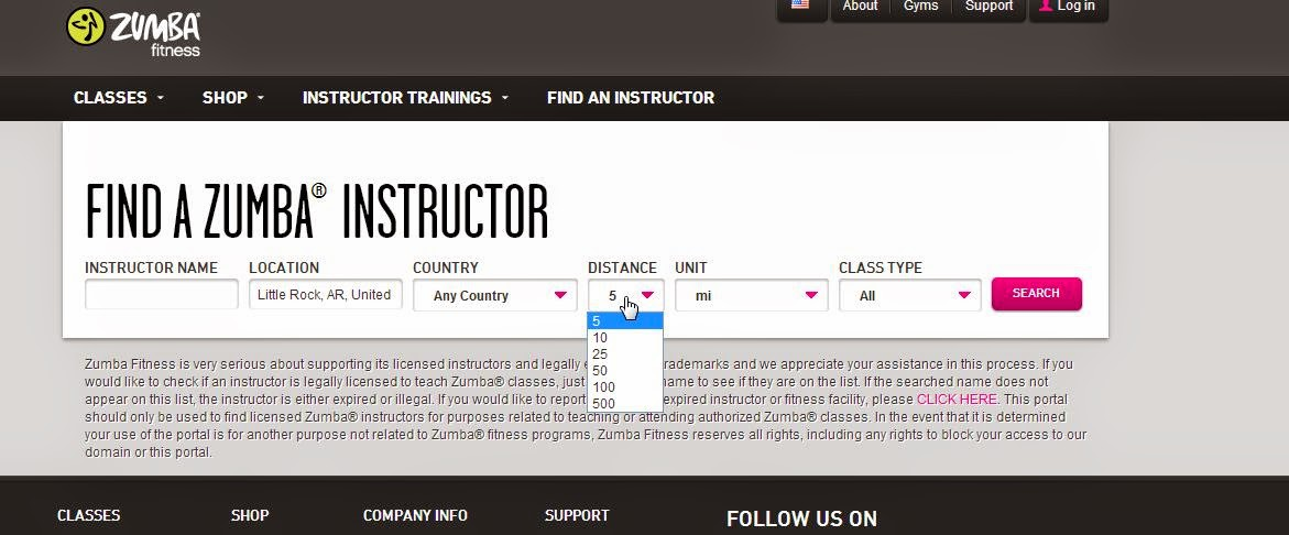 Perform an instructor search online if you can't find Zumba classes near you