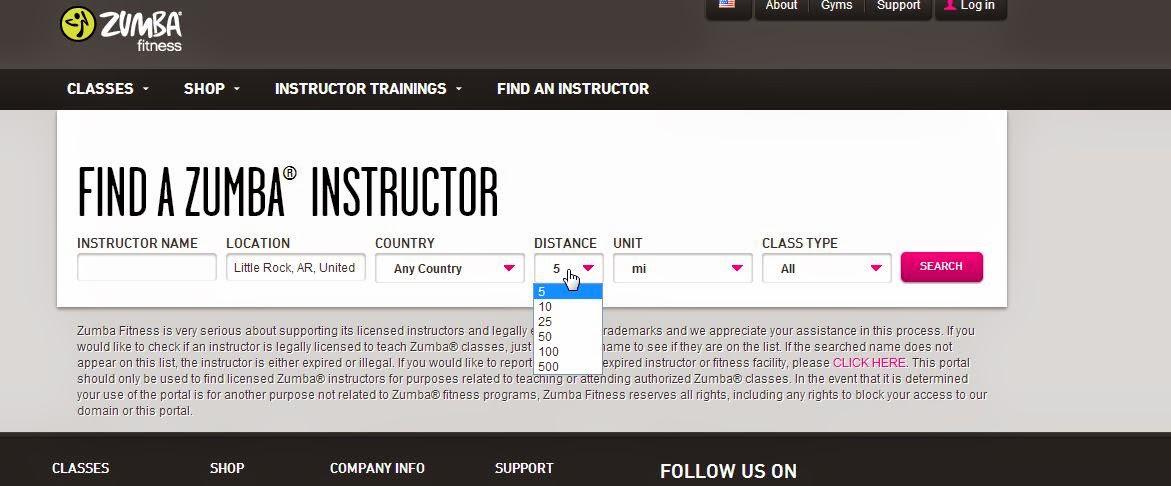 find a zumba instructor
